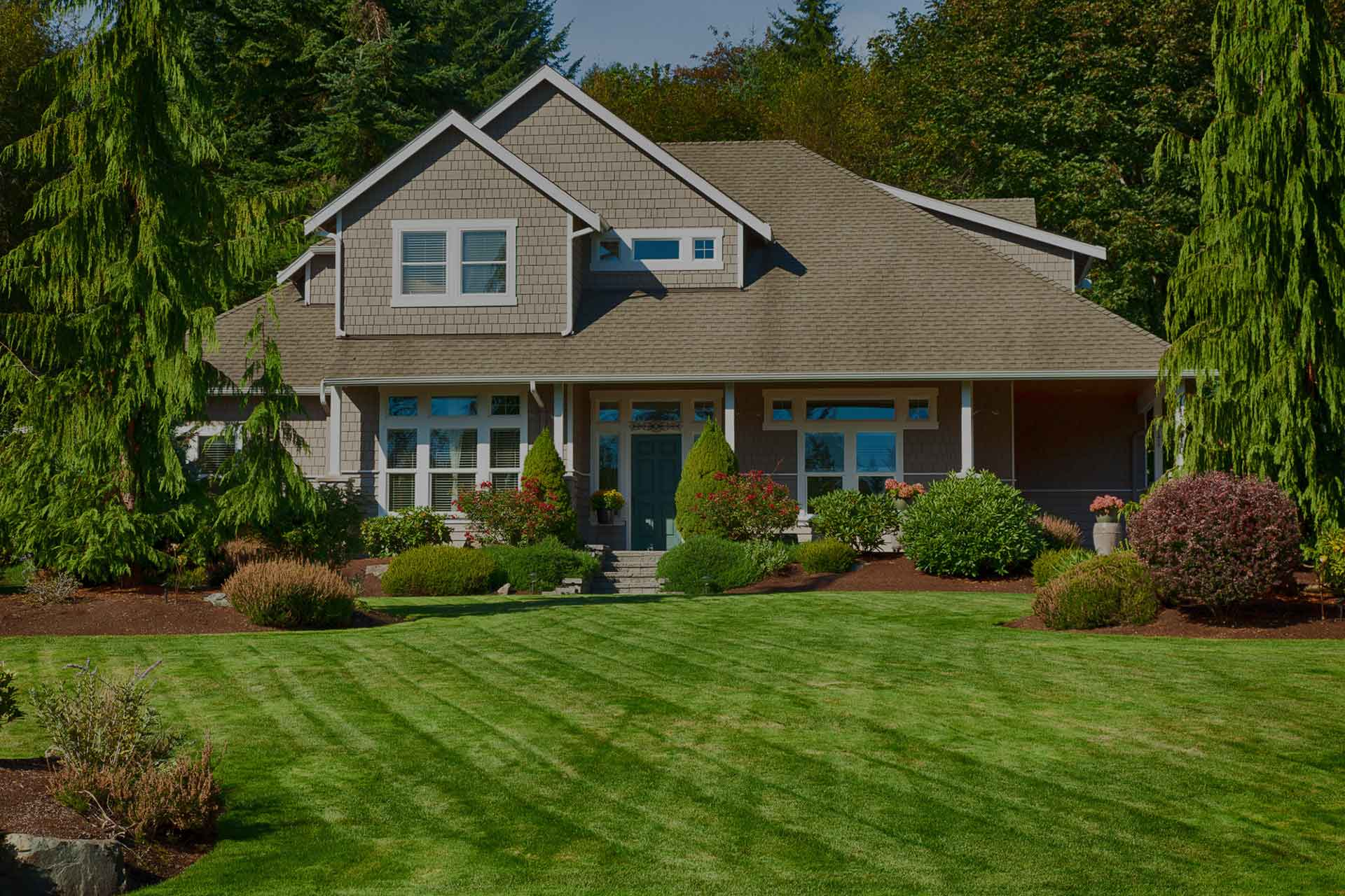 Add mulch to your lawn care program for a finishing touch